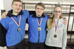 U19 - zleva Hoffman Martin, Jan Strnad, Gabriela Baigarová